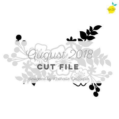 Cut File - FREE - Floral Swag - August 2018 (designed by Nathalie DeSousa)