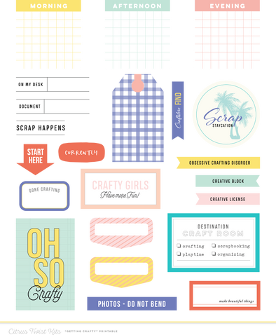 CTK Get Crafty Elements Digital Files -  May 2018