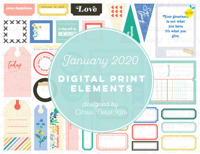 Printable Cutaparts - January 2020
