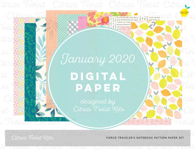 Fierce & Fabulous Notebook Digital Papers - January 2020