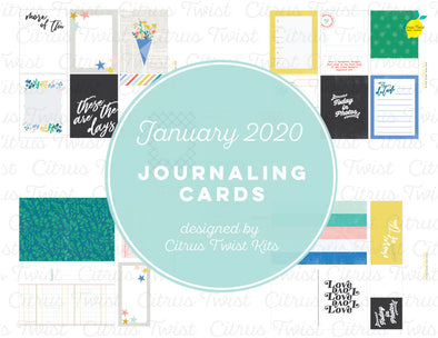 "Life Crafted ""Fierce & Fabulous"" Journal Cards - January 2020"