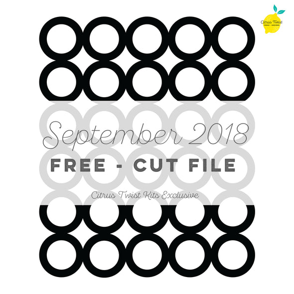 Cut file - FREE - Joined Circles - September 2018