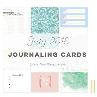 Skyland Journaling Cards - July 2018