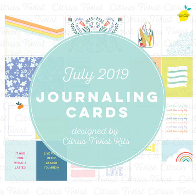 "Life Crafted ""Best of This Life"" Journaling Cards - July 2019"