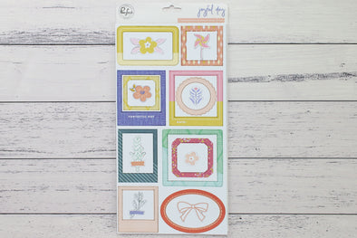 Pinkfresh Joyful Day Chipboard Frames & Accent Stickers