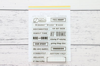 June 2019 Life Crafted Travelers Notebook Stamp, Single