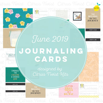 "Life Crafted ""Around Here"" Journaling Cards - June 2019"