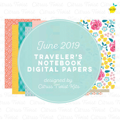Around Here Notebook Digital Papers - June 2019