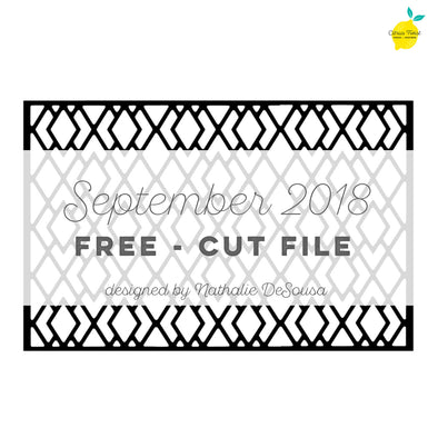 Cut file - FREE - Lattice Background - September 2018