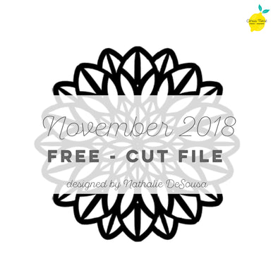 Cut file - FREE - Mandala - November 2018