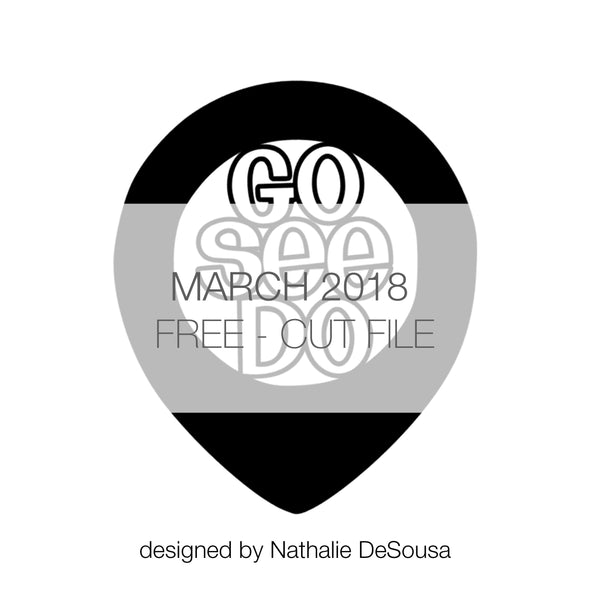Cut File - Geotagged - FREE - March 2018 (designed by Nathalie DeSousa)