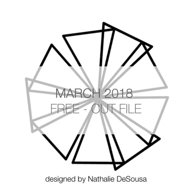 Cut File - Folded Triangles - FREE - March 2018 (designed by Nathalie DeSousa)