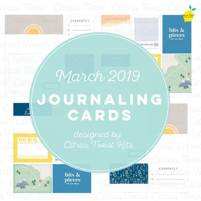 "Life Crafted ""Life Chapters"" Journaling Cards - March 2019"