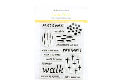 "SALE: Citrus Twist GraceBox ""Walk"" v24 Stamp"