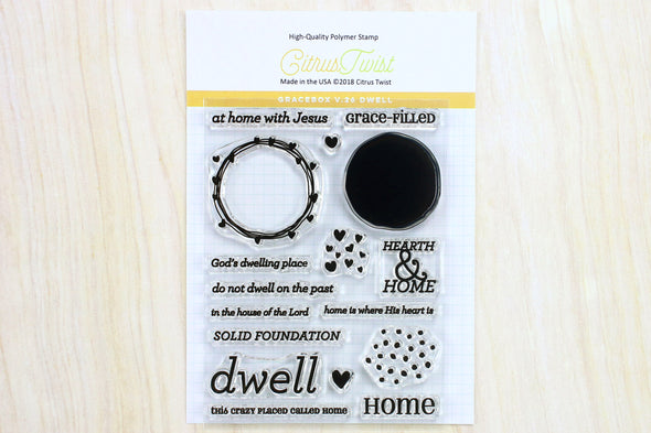 "SALE: Citrus Twist GraceBox ""Dwell"" v26 Stamp"
