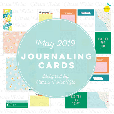 "Life Crafted ""Excursions"" Journaling Cards - May 2019"