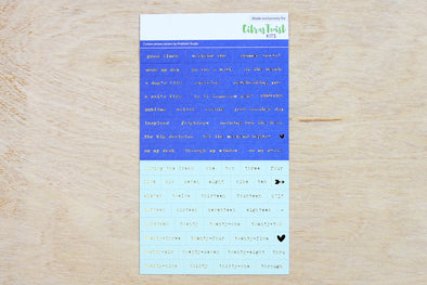Citrus Twist Royal Blue & Mint Tiny Word Stickers