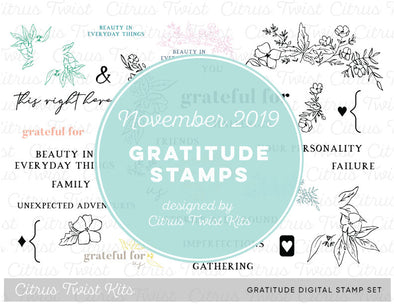 This is Life GRATITUDE Digital Stamp Set - November 2019