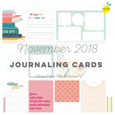Sunshine On My Mind Journaling Cards - November 2018