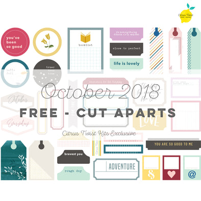 Little Things Cut Aparts - FREE - October 2018