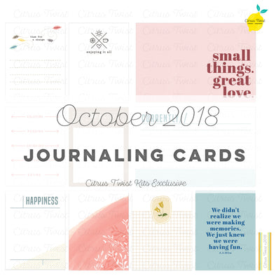 Little Things Journaling Cards - October 2018
