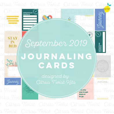 "Life Crafted ""Explore"" Journaling Cards - September 2019"