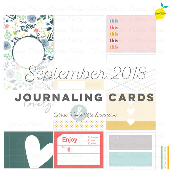 Heartbreaker Journaling Cards - September 2018