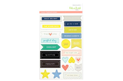 Citrus Twist Stories Chipboard Stickers