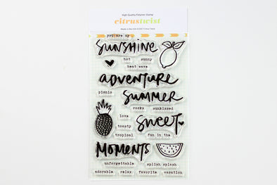 SALE: Citrus Twist Sunshine Adventure Stamp