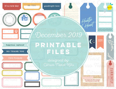Printable Cutaparts - December 2019