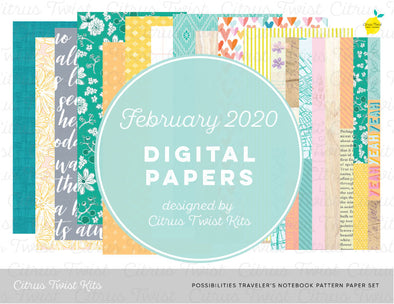 Possibilities Notebook Digital Papers - February 2020