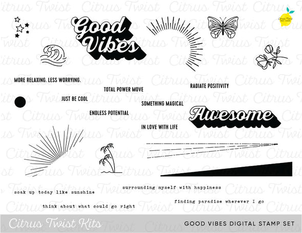 "This is Life ""Good Vibes"" Digital Stamp Set - February 2020"