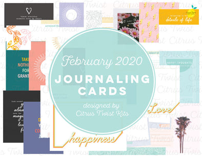 "Life Crafted ""Possibilities"" Journal Cards - February 2020"