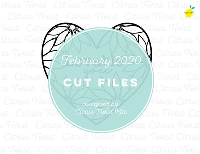 Cut file - LOVING HEART - February 2020