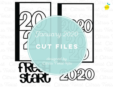Cut file - FRESH START - January 2020