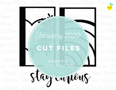 Cut file - STAY CURIOUS - January 2020