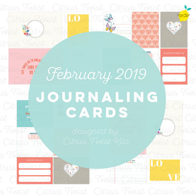 "Life Crafted ""Love Stories"" Journaling Cards - February 2019"