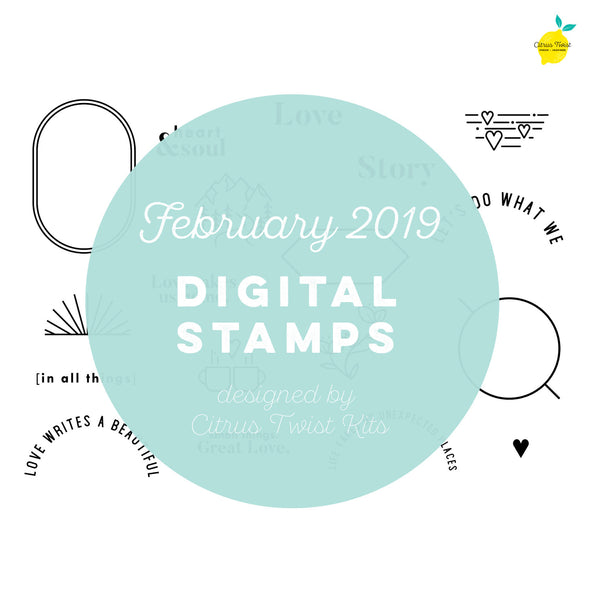 "This is Life ""Heart and Soul"" Digital Stamp Set - February 2019"