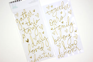 Heidi Swapp Colorfresh Gold Puffy Word & Icon Puffy Stickers