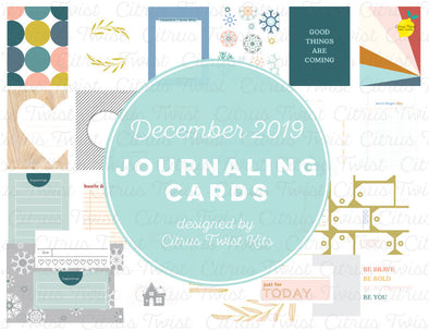 "Life Crafted ""Hustle & Heart"" Journal Cards - December 2019"