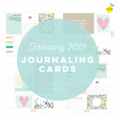 "Life Crafted ""Fresh Starts"" Journaling Cards - January 2019"