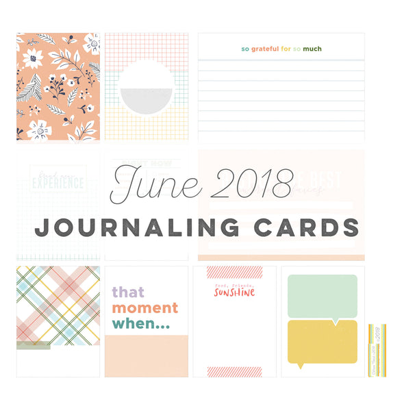 Cypress Journaling Cards - June 2018
