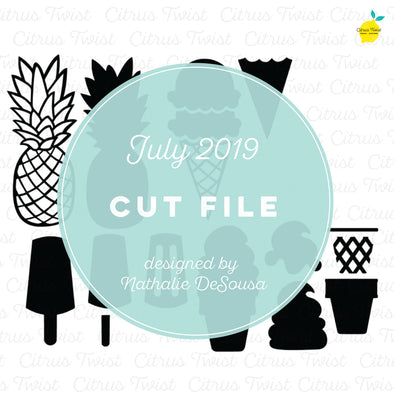 Cut file - Summer Icons - July 2019
