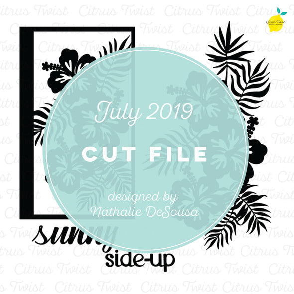Cut file - Tropical Swag - July 2019