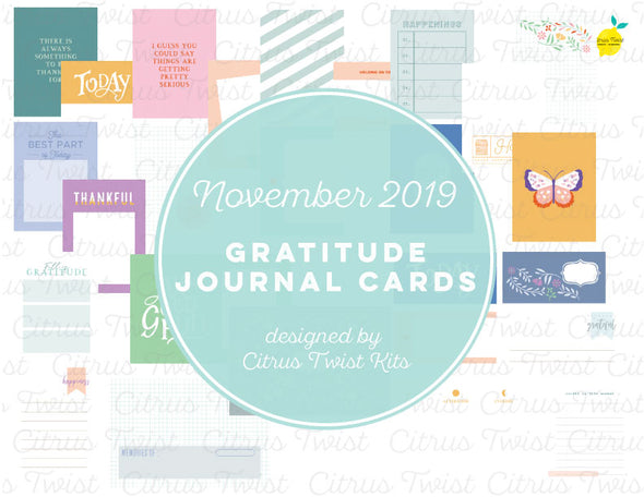 "Life Crafted ""Gratitude"" Journal Cards - November 2019"
