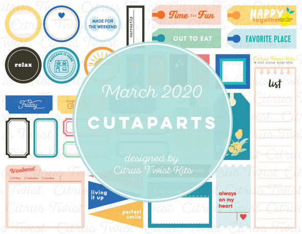 Printable - Cutapart Elements - March 2020
