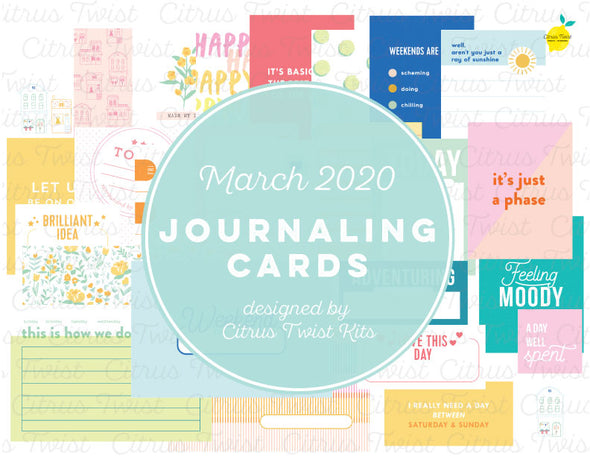 "Life Crafted ""Weekender"" Journal Cards - March 2020"