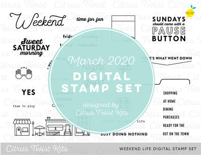 "This is Life ""Weekend Life"" Digital Stamp Set - March 2020"