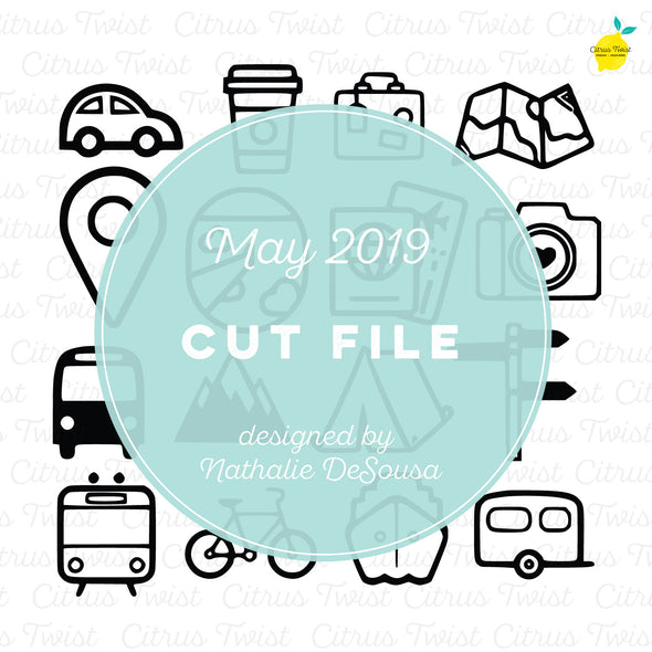 Cut file - Travel Icons - May 2019