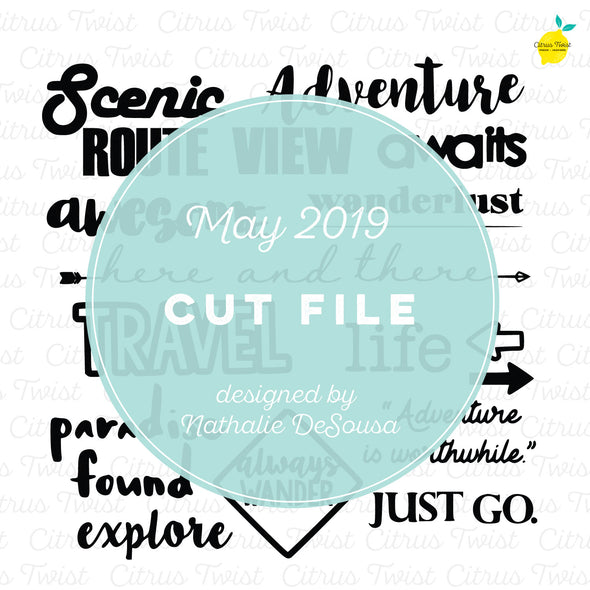 Cut file - Travel Titles - May 2019